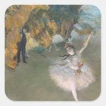 La estrella, o bailarín en la etapa, c.1876-77 calcomanias cuadradas