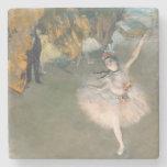 La estrella, o bailarín en la etapa, c.1876-77 posavasos de piedra