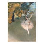 La estrella, o bailarín en la etapa, c.1876-77 postal