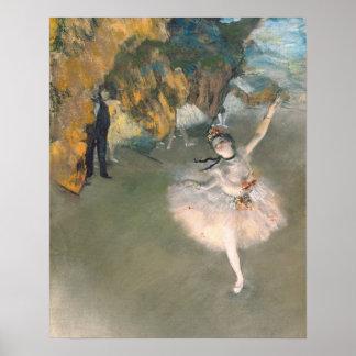 La estrella, o bailarín en la etapa, c.1876-77 póster