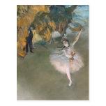 La estrella, o bailarín en la etapa, c.1876-77 tarjeta postal