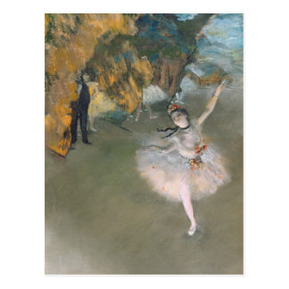 La estrella o bailarín en la etapa c 1876-77 tarjeta postal