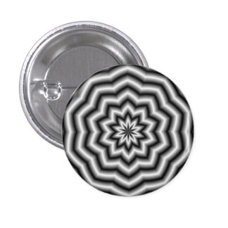 La estrella ondula el botón pin redondo de 1 pulgada