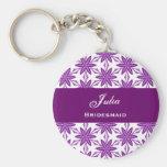 La estrella púrpura del favor del boda de la dama  llaveros personalizados