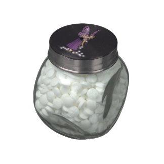 La estrella que brilla intensamente florece al jarras de cristal jelly bely