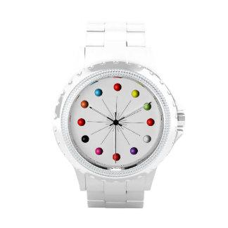 La estrella retra colorida del estilo estalló esfe relojes de mano