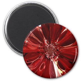 La estrella roja estalló Flowe abstracto Imán Redondo 5 Cm