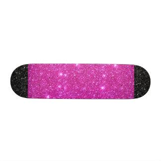 La estrella rosada del negro de la chispa w patín personalizado