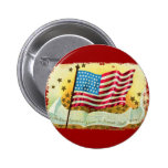 La estrella Spangled el botón de la bandera americ Pins