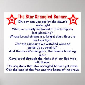 La estrella Spangled el poster de la bandera