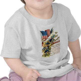 La estrella Spangled la bandera 1908 Camisetas