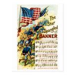 La estrella Spangled la bandera 1908 Postales