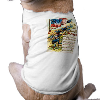 La estrella Spangled la bandera 1908 Camiseta De Perrito