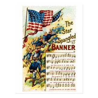 La estrella Spangled la bandera 1908 Tarjeta Postal