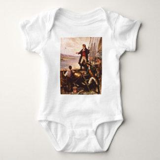 La estrella Spangled la bandera de Percy Moran Body Para Bebé