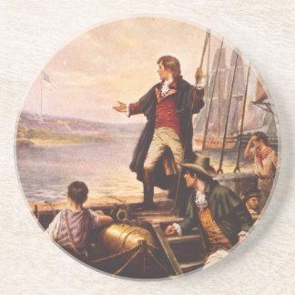 La estrella Spangled la bandera de Percy Moran Posavasos Personalizados