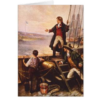 La estrella Spangled la bandera de Percy Moran Tarjeta De Felicitación