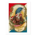 La estrella Spangled la bandera Eagle Tarjetas Postales