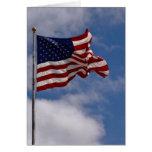 La estrella Spangled la bandera Felicitacion