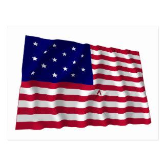 La estrella Spangled la bandera Tarjeta Postal