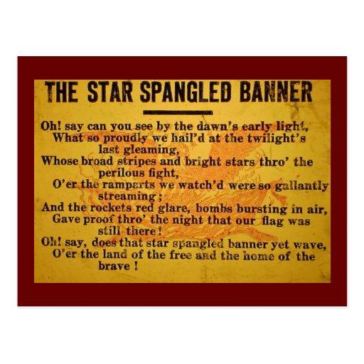 La estrella Spangled la diapositiva de linterna má Tarjetas Postales