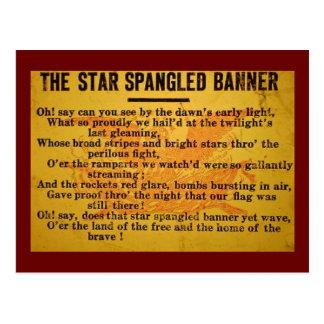 La estrella Spangled la diapositiva de linterna Postal