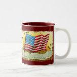 La estrella Spangled la taza de café de la bandera
