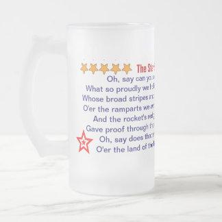 La estrella Spangled la taza de la bandera