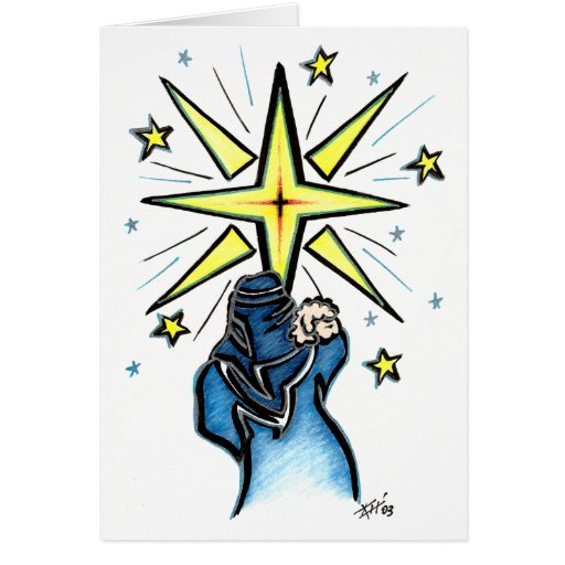 La estrella tarjeta pequeña