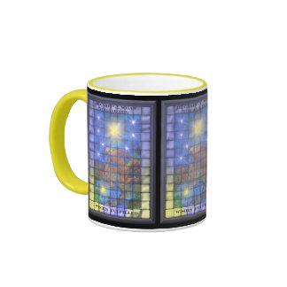 La estrella taza de dos colores
