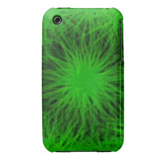 La estrella verde estalló el caso del universal funda para iPhone 3 de Case-Mate