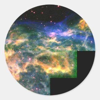 La estrella WR 136 destroza Shell del gas Etiqueta Redonda