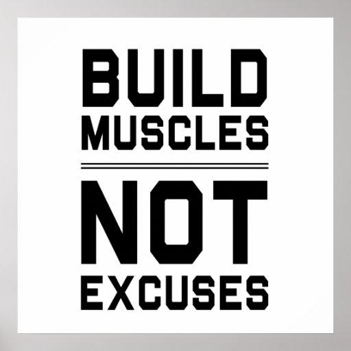 La estructura Muscles no excusas Posters