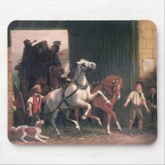 La etapa llega, c.1830 alfombrilla de raton