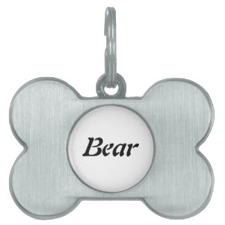 La etiqueta conocida del perro del oso placas de mascota