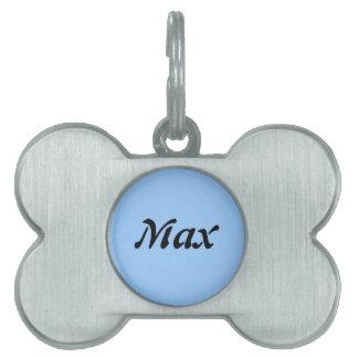 La etiqueta conocida del perro máximo placas de nombre de mascota