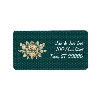 La etiqueta de dirección de Lotus