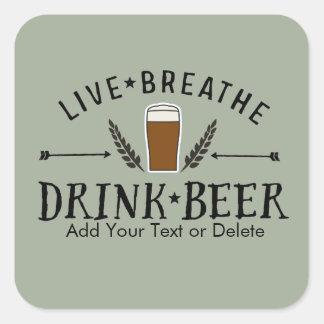 La etiqueta de la cerveza viva respira