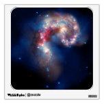 La etiqueta de la pared de las galaxias de Antanna