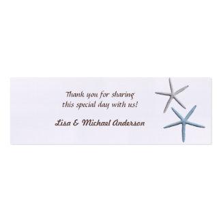 La etiqueta del favor de las estrellas de mar le a tarjetas de visita mini
