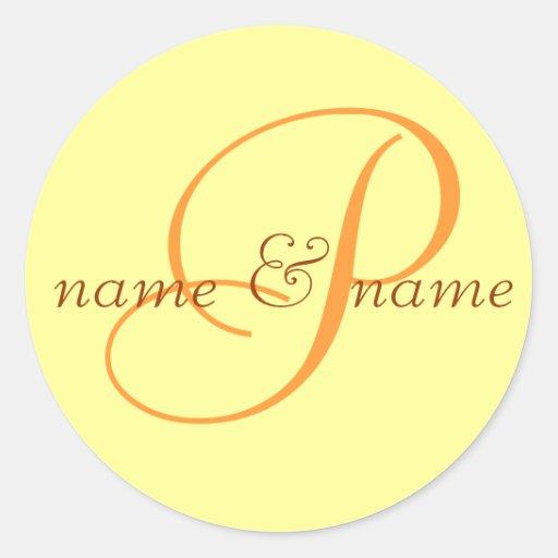 """La etiqueta del monograma de """"P"""", personaliza los"""
