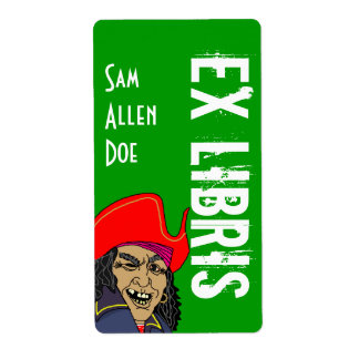 La etiqueta del nombre de la sonrisa del pirata etiqueta de envío