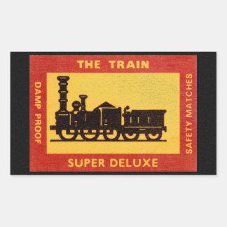 La etiqueta del partido del vintage del tren