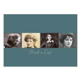 La etiqueta del regalo de las actrices #1 tarjetas de visita grandes