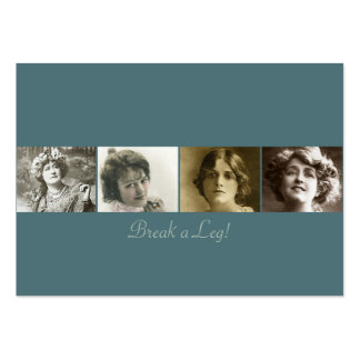 La etiqueta del regalo de las actrices #3 tarjetas de visita grandes