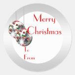 La etiqueta elegante del regalo del navidad