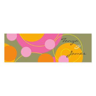 La etiqueta jugosa retra del regalo de los puntos tarjetas de visita mini