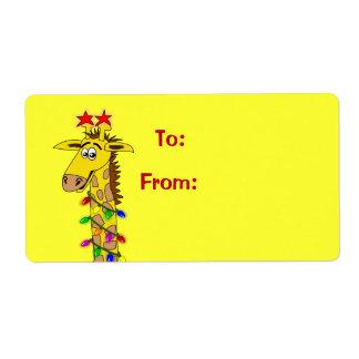 La etiqueta linda del regalo de Navidad de la jira Etiquetas De Envío