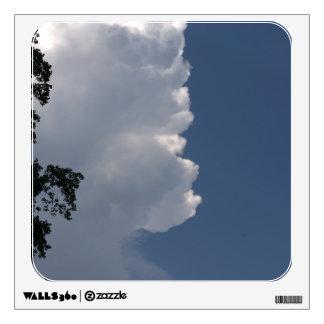 La etiqueta mullida gigantesca de las nubes del bl vinilo decorativo