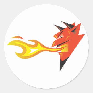 La etiqueta principal del diablo ardiente